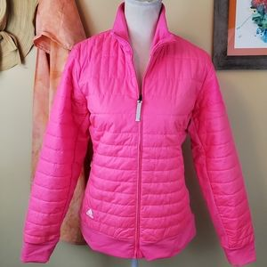 **Adidas Bright Pink Climaproof Zip Up Jacket